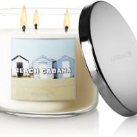 Bath & Body Works Slatkin and Co - 3 Wick Scented 14.5 oz Candle - BEACH CABANA