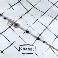 2018 New Trending Chanel logo high carbon zp Pearl bracelet hand chain in 18K gold plating three laps