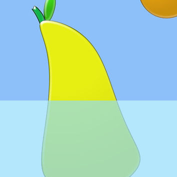 "'""floating pear"" abstract' Poster by BillOwenArt"