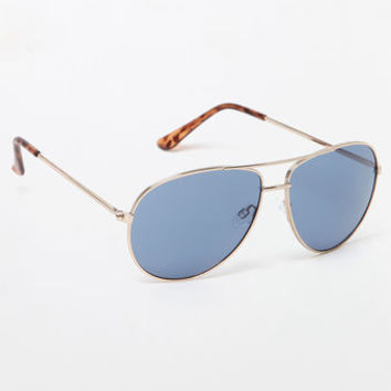 LA Hearts Blue Aviator Sunglasses at PacSun.com