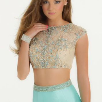 Heavy Beaded Two-Piece Dress