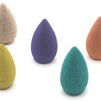 100 PCS Backflow Incense Cones Osmanthus Jasmine Incense Lavender Green Tea Sandalwood Mixed Natural Fragrant Cone