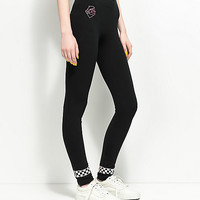 Pink Dolphin Checker Black Leggings | Zumiez