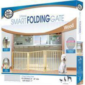 Four Paws Products Ltd - Free Standing Folding 3 Panle Gate