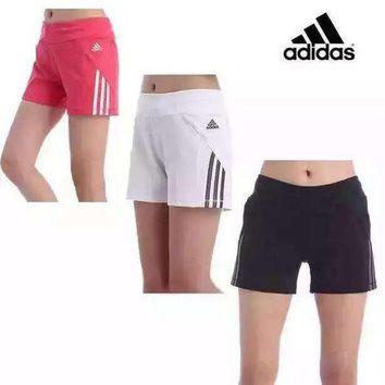 Adidas Women Casual Print Yoga Sports Gym Shorts