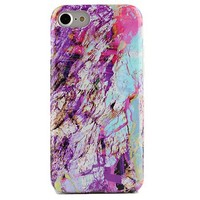 Electric Rainbow Marble iPhone Case