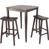 3pc Inglewood High/Pub Dining Table with Saddle Stool by Winsome Woods