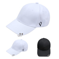Korean Style black white hoop cap M Harajuku style curved eaves baseball cap hip-hop hip-hop hat female summer sun hat DM#6
