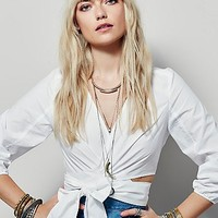 Free People Womens Ava Wrap Top