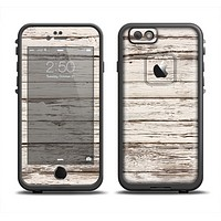 The White Painted Aged Wood Planks Apple iPhone 6 LifeProof Fre Case Skin Set