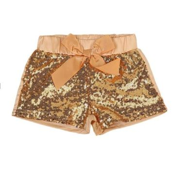 Hot Shorts New 2017 Cute Toddler Baby Girls Clothes Bowknot Sparkle Party  Sequin Pants Summer 1-3YAT_43_3