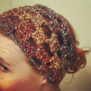 Crochet Hippie Headband Dread Wrap