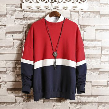 Moletom Loose Round Collar Sweatshirt
