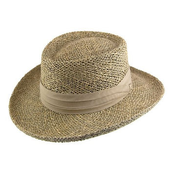 Jaxon Pebble Beach Gambler Hat (Small/Medium, Seagrass)