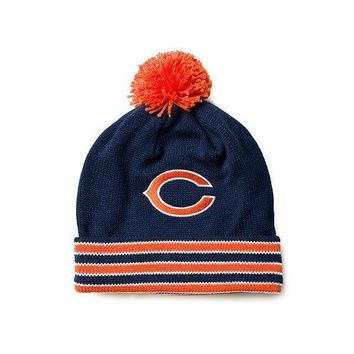 MITCHELL AND NESS - CHICAGO BEAR STRIPE KNIT HAT