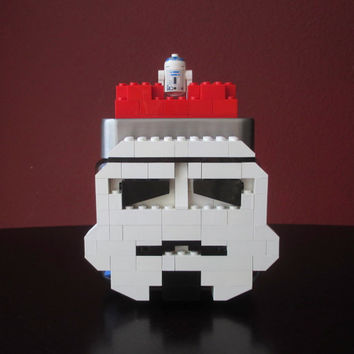Lego Star Wars Storm Trooper Candy/Keepsake Jar~LEGO Minifigure & LEGO Bricks.LEGO party,Home Decor,Birthday Gift,Centerpiece,Storage.