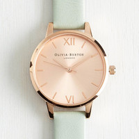 Olivia Burton Luxe Olivia Burton Undisputed Class Watch in Rose Gold, Mint - Petite