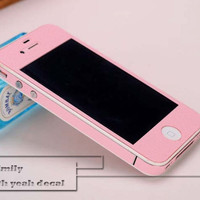 pink iPhone 4s Decal iphone 4 Stickers iPhone 5 Decals Apple Decal for Macbook Pro / Macbook Air / iPad / iPad2 / New ipad / iPhone 4