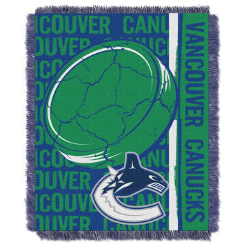 Vancouver Canucks NHL Triple Woven Jacquard Throw (Double Play Series) (48x60)