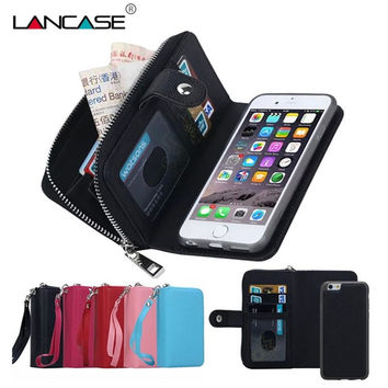 For iPhone 5S Case Magnetic 2 in 1 Zip Wallet Detachable Phone Bags For  iPhone 5 3ce4a368b