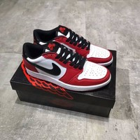 nike air jordan 1 men casual fashion multicolor low help plate shoes basketball shoes sneakers