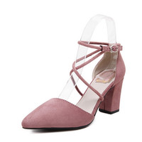 Xemonale Cross-tied Women Sandals Summer Sexy Square High Heels PU Leather Wedding Shoes Woman Elegant Pumps 3 Colors XWZ2049