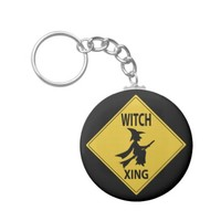 Witch Xing Basic Round Button Keychain