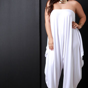 Loose Draping Oversized Tube Jumpsuit