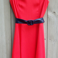 Sale: Vintage orange Adele Simpson princess-seam dress