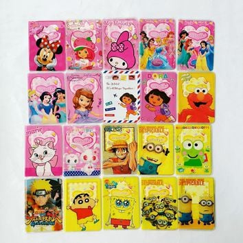 Hot-selling PVC leather passport Cover,Cartoon Minions passport holder business for travel ,22 kinds of Pattern for choose