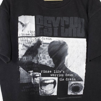 PSYCHO movie shirt - vintage - horror - alfred hitchcock