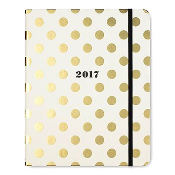 2017 - 17 Month Large Agenda in Gold Dots by Kate Spade New York - FINAL SALE