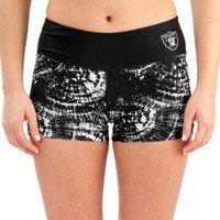 Oakland Raiders Women's Thematic Print Shorts – Black