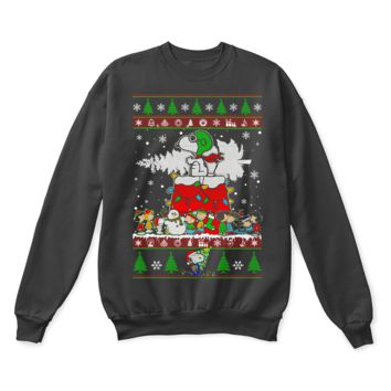 KUYOU Peanuts Friends Merry Christmas Flying Ace Snoopy Ugly Sweater