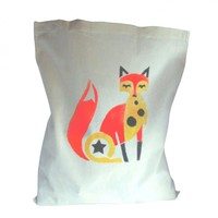 Funky Fox Bag Cotton Hand Stencille.. on Luulla