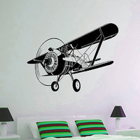 WALL DECAL VINYL STICKER AIRPLANE PLANE AIRCRAFT AVIATION DECOR SB161