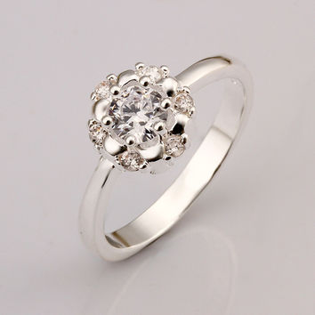 Full Flower Silver Ring