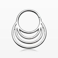 Meridian Circle Septum Twist Loop Ring