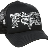 Fox Junior's Image Logo Trucker Hat, Black, One Size