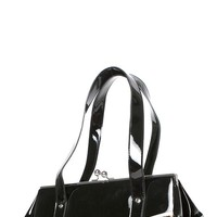 Femme Fatale Kisslock Bag in Black and Leopard | Blame Betty
