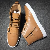 Christian Louboutin CL Mid Style #2154 Sneakers Fashion Shoes Best Deal Online