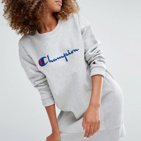 Champion Oversized Sweat Dress With Script Logo
