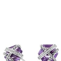 Women's David Yurman 'Cable Wrap' Earrings with Semiprecious Stones & Diamonds
