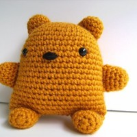 Amigurumi Golden Teddy Bear Plush Toy