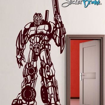 Vinyl Wall Decal Sticker Transformers Style Robot Fighter #GFoster150