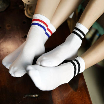 Casual Summer Stripe Cotton Socks