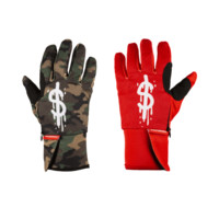 Sprayground - Money Drips Gloves - Red / Camo