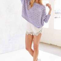 Kimchi Blue Pointelle Slouchy Sweater-