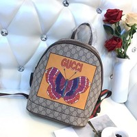 GUCCI GG Supreme Butterfly Backpack