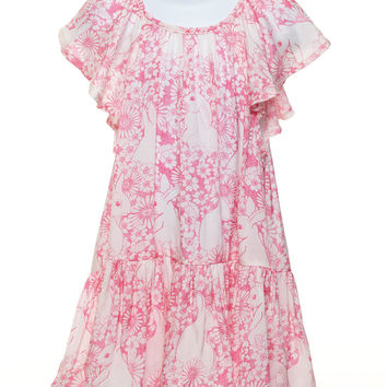 Frilled Smock Dress - Bunny Field Outline